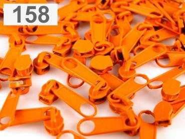 3m Endlosreißverschluss fein 3mm orange plus 10 Zipper