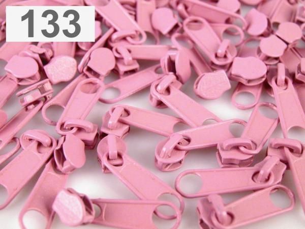 3m Endlosreißverschluss fein 3mm candypink plus 10 Zipper